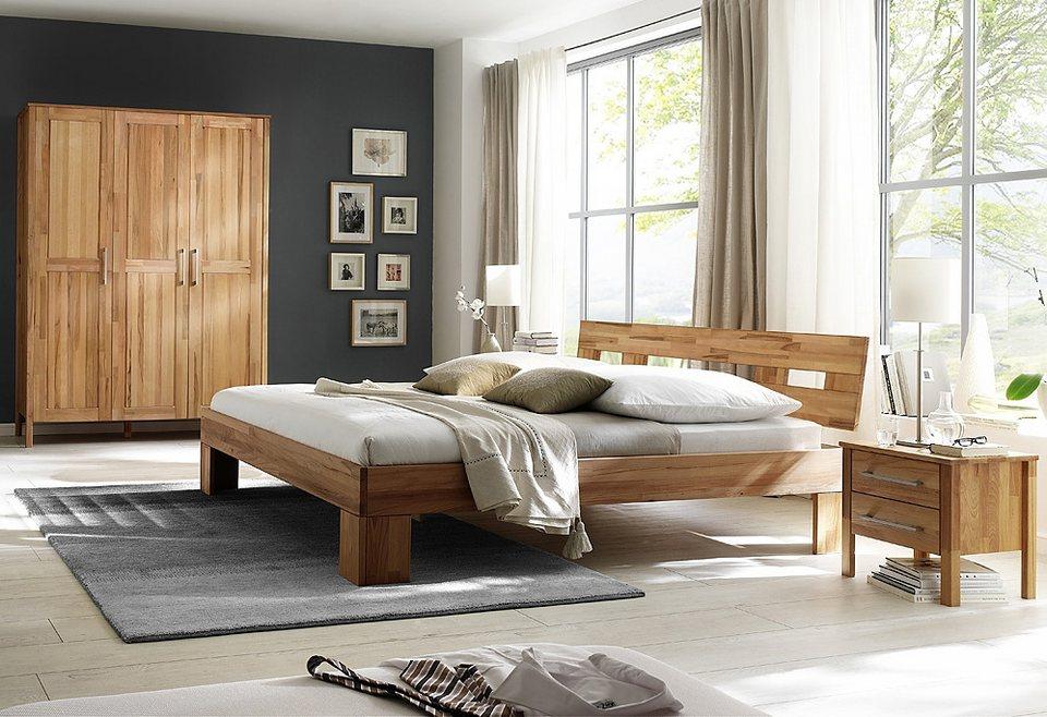 Home affaire, Schlafzimmer-Set (4-tlg.), »Modesty I« mit 3-türigem Schrank, wahlweise mit Spiegel