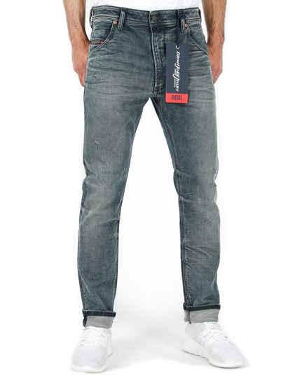 Diesel Tapered-fit-Jeans Herren Regular Tapered Fit Jogg Jeans Stretch Hose Blau Krooley-T 0870W