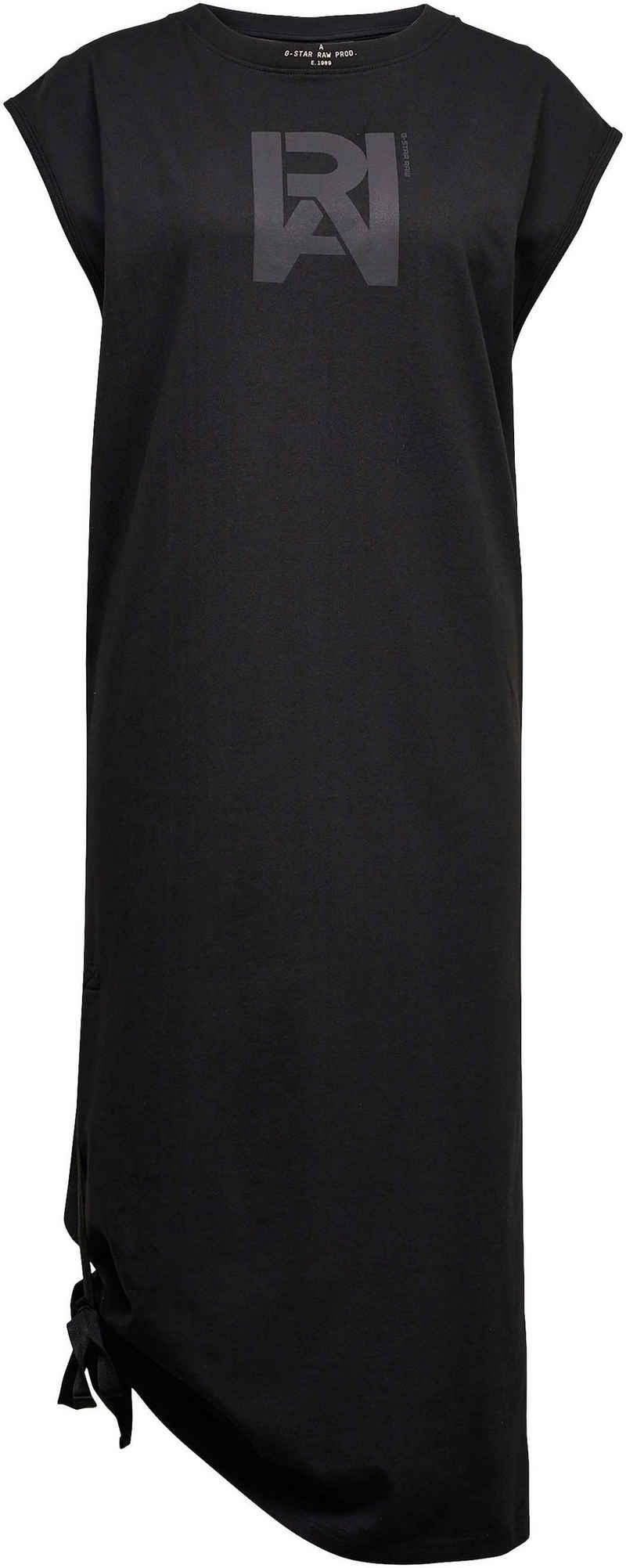 G-Star RAW Jerseykleid »Kleid Cap Sleeve tee dress« mit süßen Knotendetail