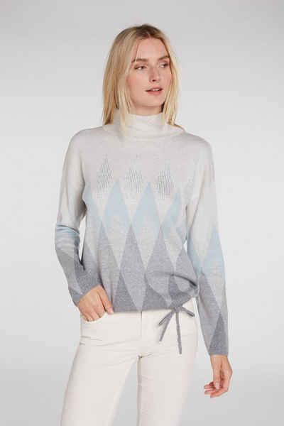 Oui Strickpullover »Pullover aus Bio Baumwolle«