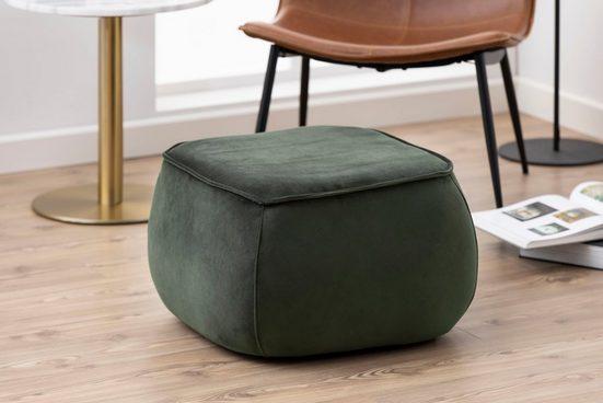 andas Pouf »Karlebo«, in zwei verschiedenen Bezugsqualitäten erhältlich, Gesamtmaße (B/T) ca. 60/60 cm, Höhe 34 cm, in verschiedenen Farbvarianten