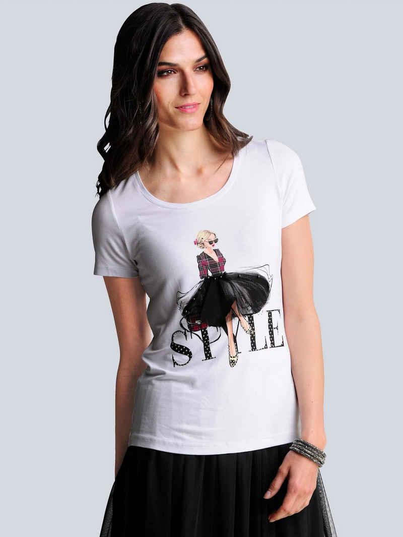 Alba Moda Rundhalsshirt im exklusiven Dessin von Alba Moda