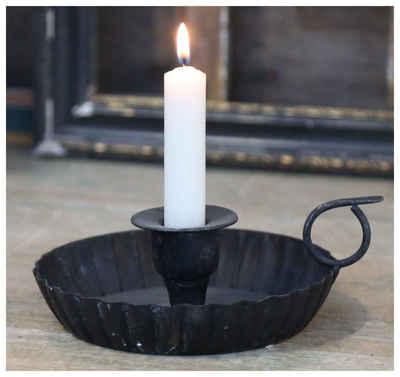 Chic Antique Kerzenhalter »Chic Antique - Kammerleuchter Metall Schwarz (64203-24) Kerzen- Halter Ständer«