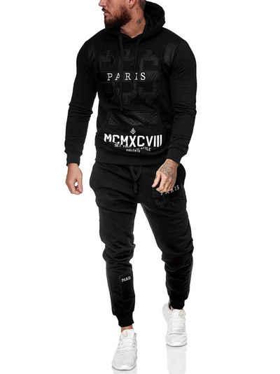 Code47 Jogginganzug »Herren Jogginganzug Jacke Sport Hose Fitness Hoodi« (Sportanzug Trainingsanzug Fitnessanzug, Sportswear TrackSuit Sweat)