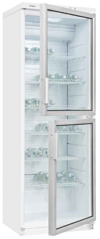 exquisit Getränkekühlschrank GKS350-2-GT-280G, 179 cm hoch, 60 cm breit, reichlich Platz zur Getränkelagerung