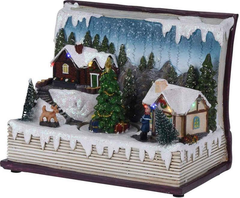 made2trade Weihnachtsdorf »BUCH«, mit LED Beleuchtung
