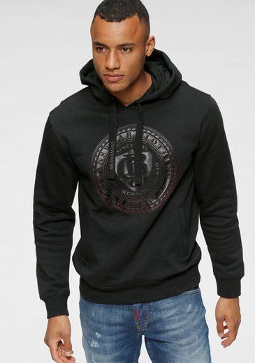 Bruno Banani Kapuzensweatshirt mit gummierten Markenprint vorne