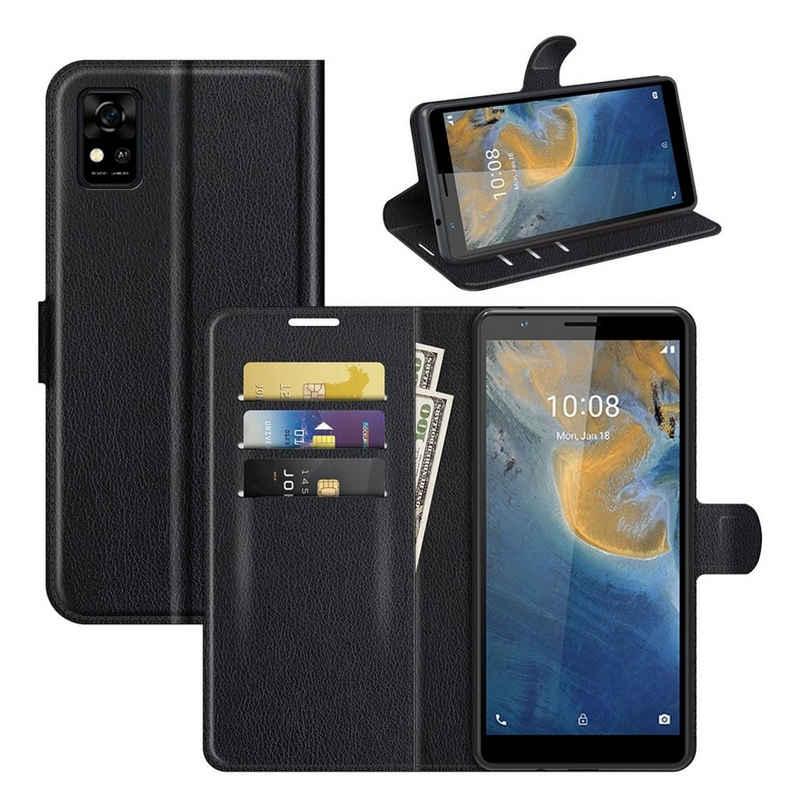 König Design Handyhülle, Schutzhülle für ZTE Blade A31 Handy Hülle Tasche Case Cover Schwarz