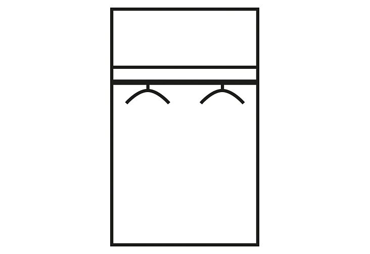 Kleiderschrank in struktureichefarben hell