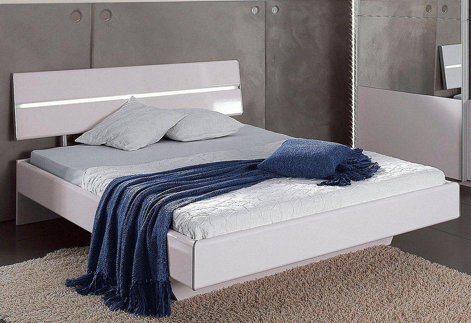 rauch Bett in weiß Hochglanz