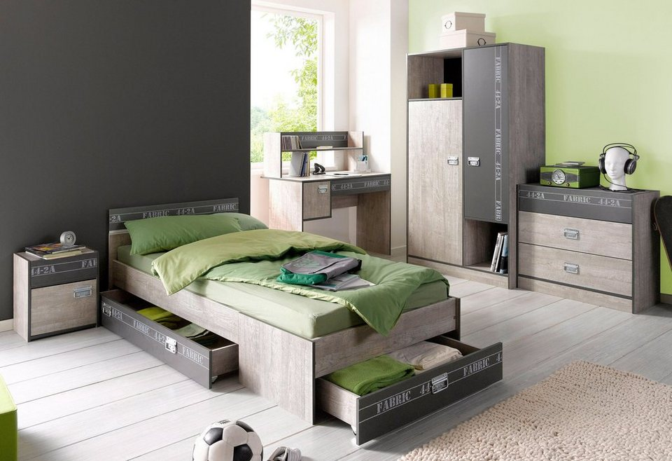 parisot jugendzimmer set fabric 4 tlg kaufen otto. Black Bedroom Furniture Sets. Home Design Ideas