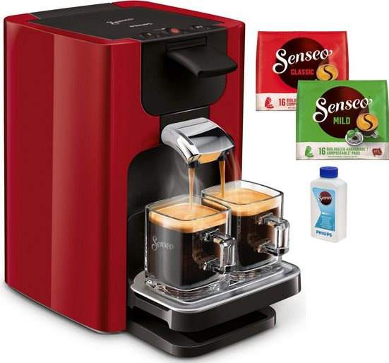 Senseo Kaffeepadmaschine SENSEO® Quadrante HD7865/80, inkl. Gratis-Zugaben im Wert von € 14,- UVP