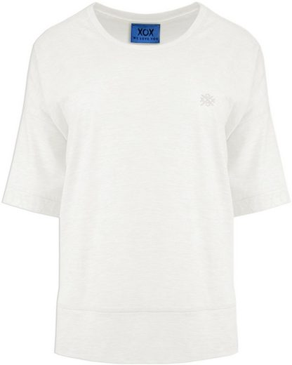 XOX Oversize-Shirt lässiges Shirt, 3/4 Ärmel mit Flockprint