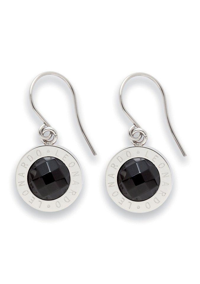 Paar Ohrhaken, Jewels by Leonardo, »Ohrhänger schwarz Matrix« in schwarz