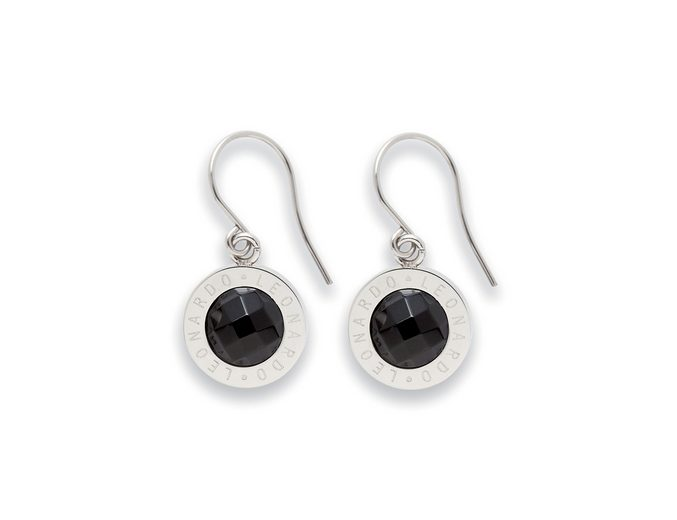 Paar Ohrhaken, Jewels by Leonardo, »Ohrhänger schwarz Matrix«