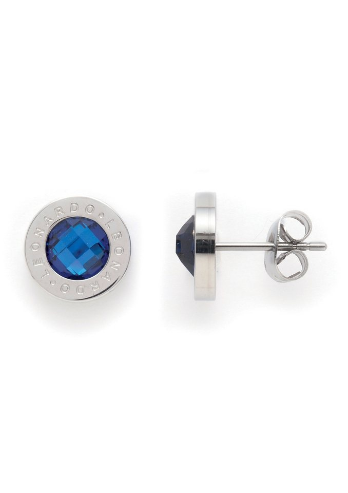 Paar Ohrstecker, Jewels by Leonardo, »Ohrstecker blau Matrix« in blau