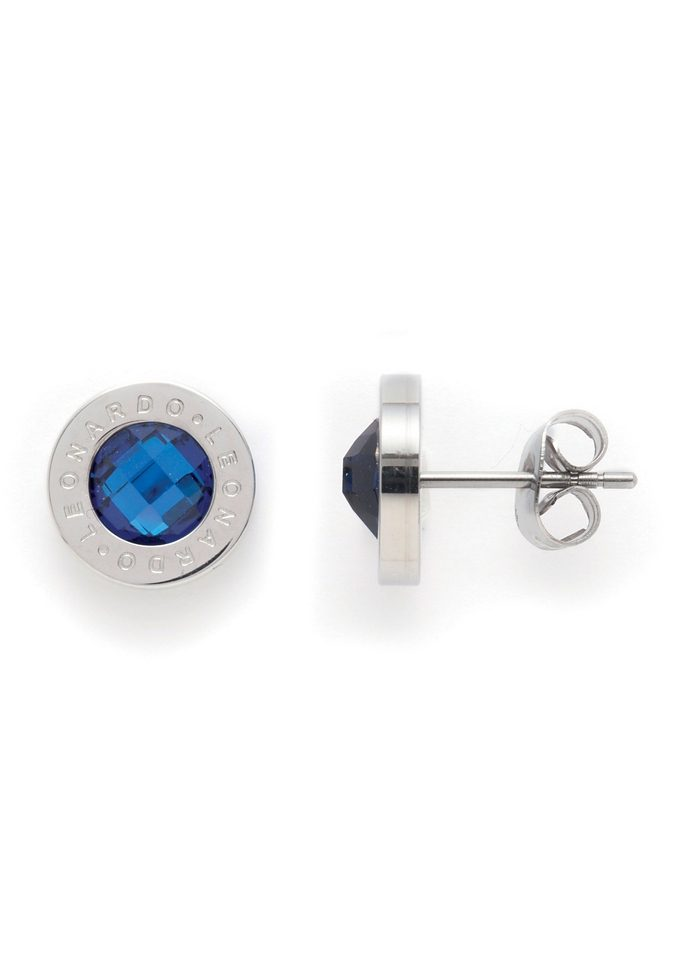 Paar Ohrstecker, Jewels by Leonardo, »Ohrstecker blau Matrix«