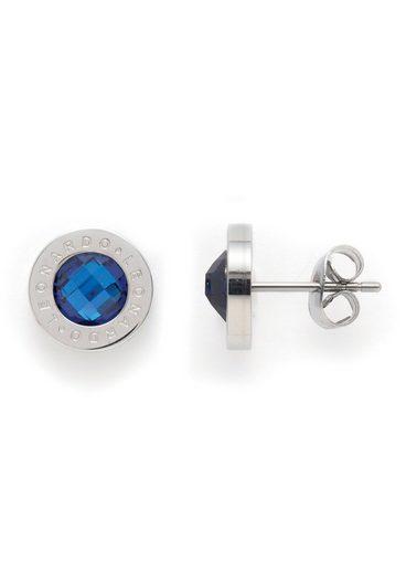 LEONARDO Paar Ohrstecker »013986, blau Matrix«, mit Glassteinen