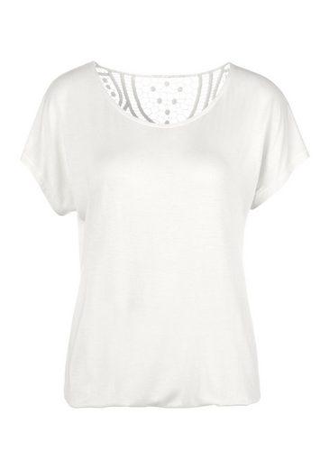 Vivance T-Shirt mit weicher Häkelspitze im Rücken