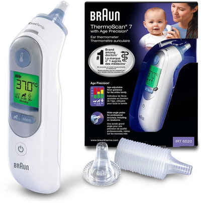 Braun Ohr-Fieberthermometer »ThermoScan® 7 Ohrthermometer mit Age Precision® IRT6520WE«