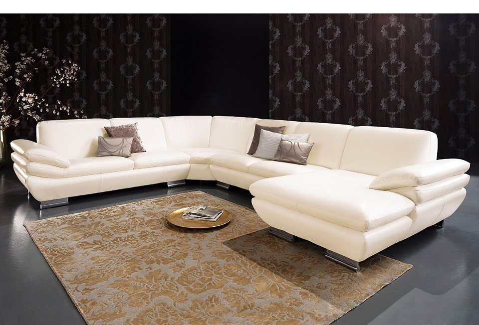 calia italia wohnlandschaft xxl prm 391 in zwei lederqualit ten online kaufen otto. Black Bedroom Furniture Sets. Home Design Ideas