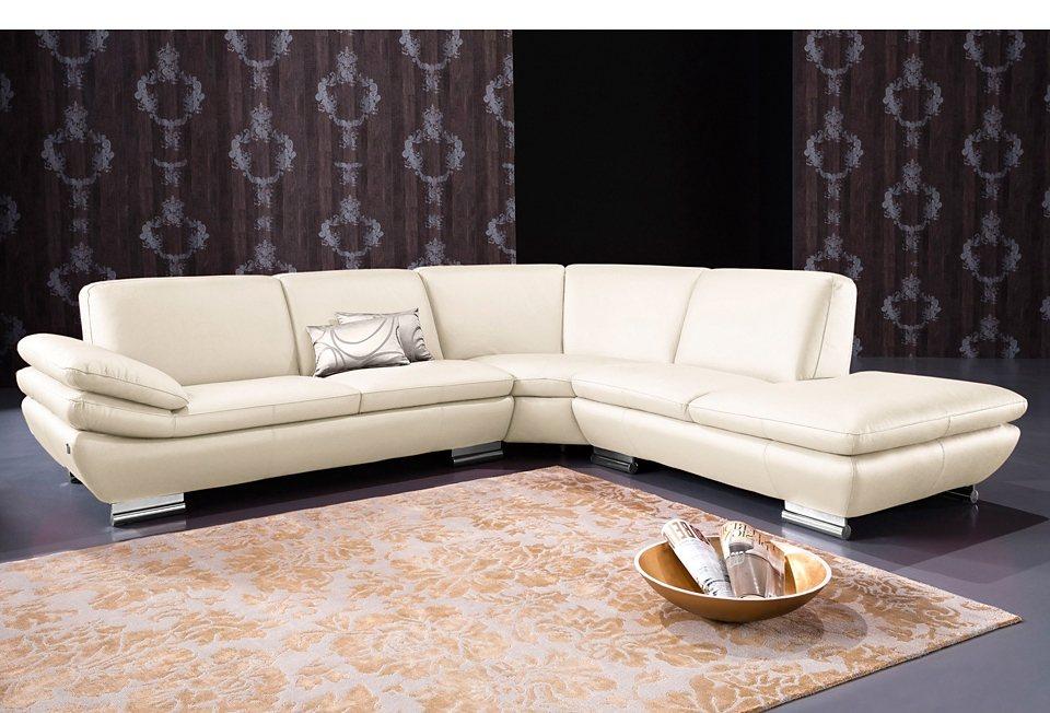 calia italia polsterecke in zwei lederqualit ten ottomane. Black Bedroom Furniture Sets. Home Design Ideas