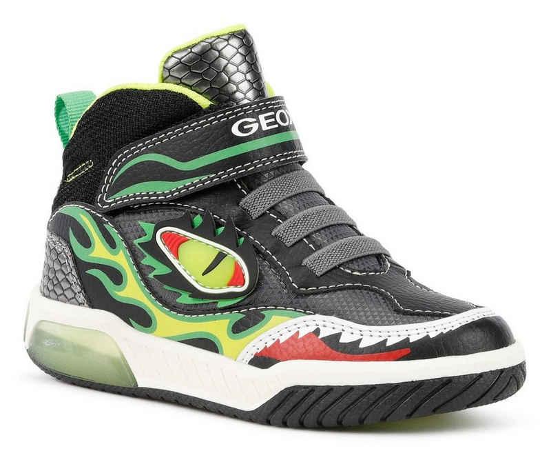 Geox Kids »J Inek Boy Blinkschuh« Sneaker mit blinkendem Drachen-Motiv