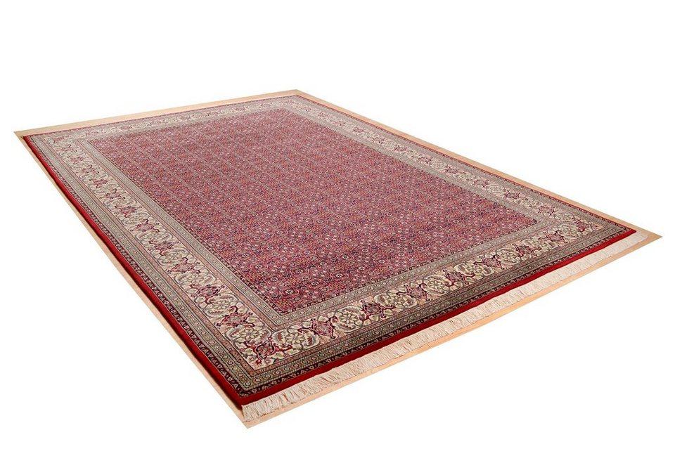 Orientteppich »Sirsa Seta Bidjar«, Theko, rechteckig, Höhe 12 mm in rot-creme