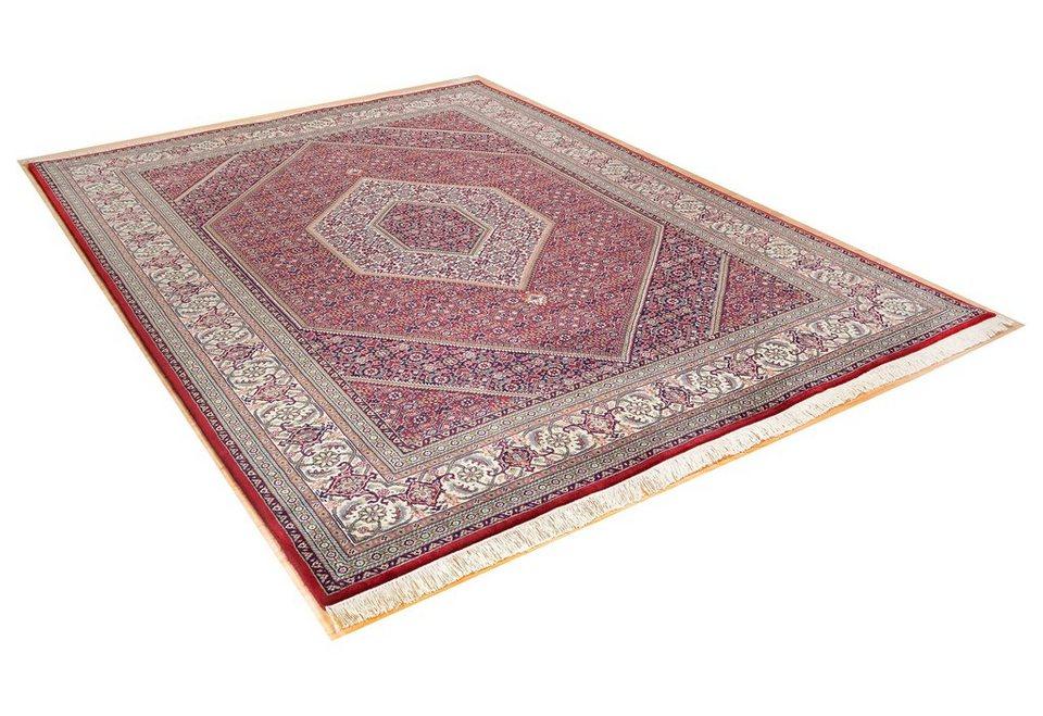 Orient-Teppich, Theko, »Sirsa Seta«, 300 000 Knoten/m², 5 kg/m², handgeknüpft in rot-creme