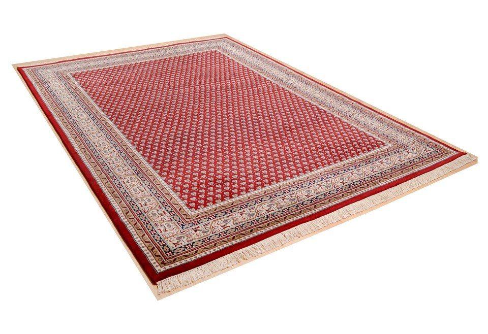Orient-Teppich,Theko,»Abbas Meraj Mir«, 210.000 Knoten/m², 5 kg/m²,handgeknüpft, Schurwolle in rot-creme