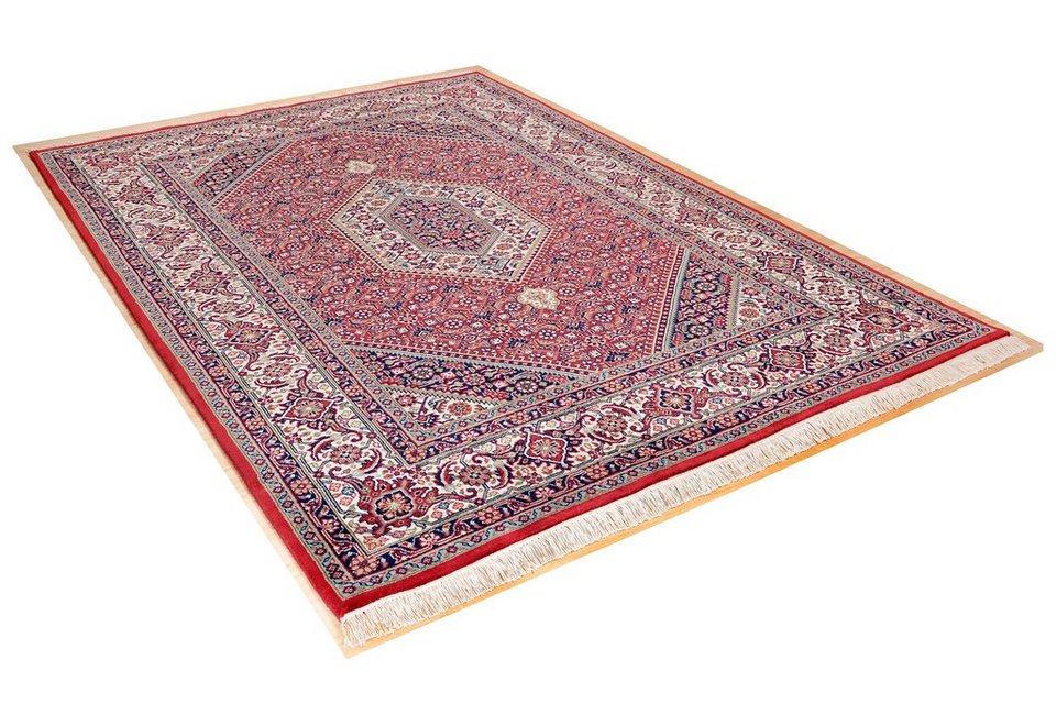 Orient-Teppich, Theko, »Meraj Silk Touch Bidjar«, 210 000 Knoten/m², 5 kg/m², handgeknüpft in rot