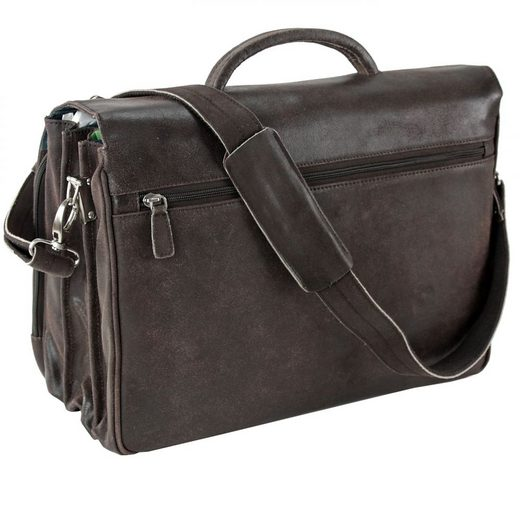 Plevier 30 Series Briefcase I Leather 3 Fan 41 Cm Compartment