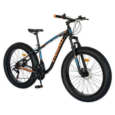 CARPAT Mountainbike, 26 Zoll Erwachsene Fahrrad, Fat-Tyre-Mountain-Trail-Bike,Shimano 21 Gang Schaltung,Rahmen aus Aluminium, Hydraulische Scheibenbremse, 17.8 Zoll Rahmen MTB Vollgefedert