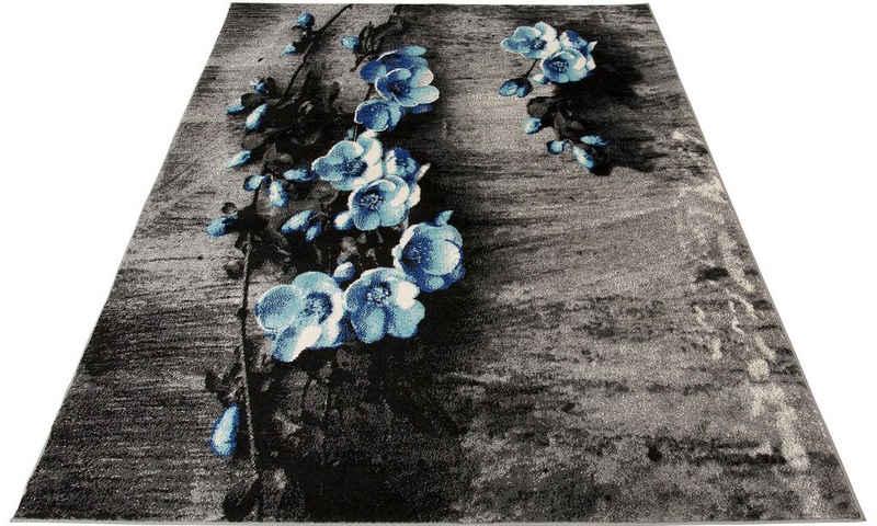 Teppich »Freya«, my home, rechteckig, Höhe 8 mm, mit Blumen Design, Wohnzimmer
