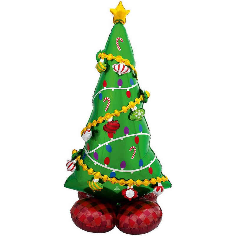 Amscan Airwalker-Ballons »Airloonz Folienballon P70 Weihnachtsbaum, 149 cm«