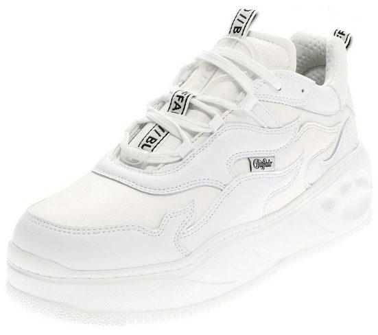 Buffalo »FLAT XTR White Damen Low-Top Sneaker Weiss« Schnürschuh
