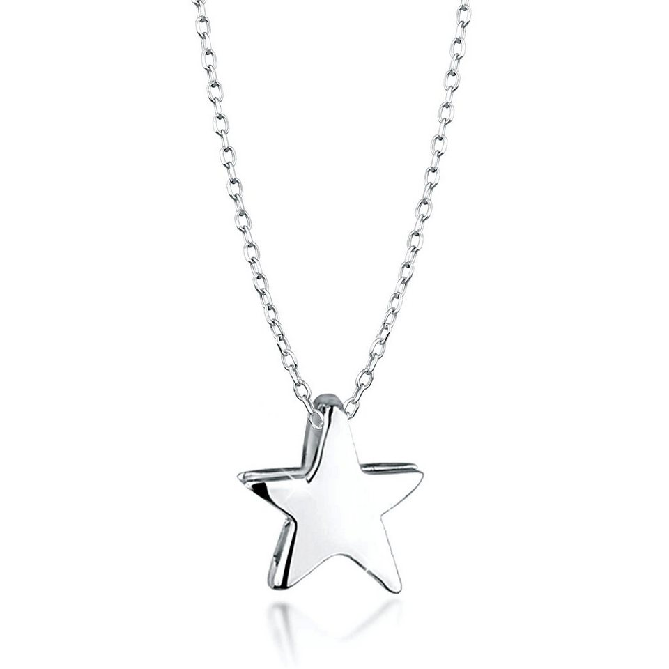 Elli Halskette »Stern Astro 925 Silber« in Silber