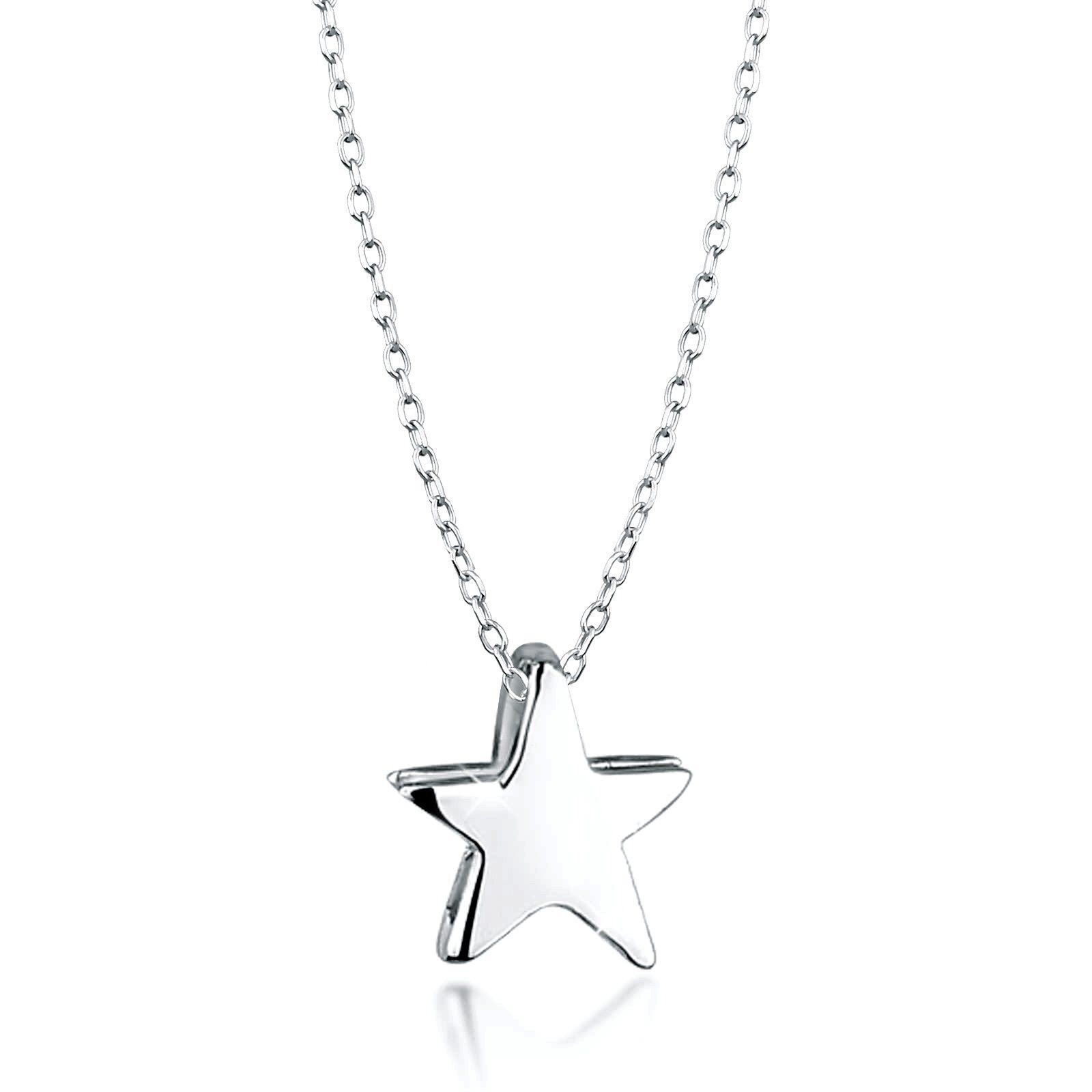 Elli Halskette »Stern Astro 925 Silber«