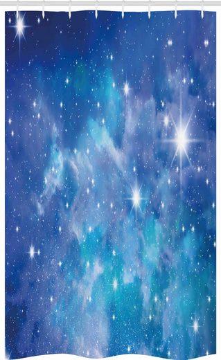 Abakuhaus Duschvorhang »Badezimmer Deko Set aus Stoff mit Haken« Breite 120 cm, Höhe 180 cm, Platz Planet Sternhaufen