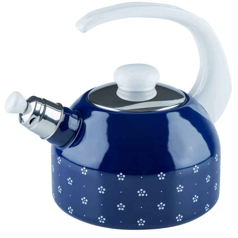 Riess Wasserkessel »Flötenkessel 2 Liter Dirndl«, Premium-Email, Empfohlen bei Nickelallergie
