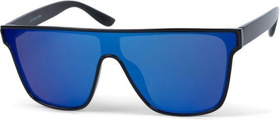 styleBREAKER Sonnenbrille »Monoglas Shield Sonnenbrille« Verspiegelt