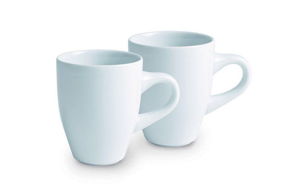 Kahla Set: Kaffeebecher-Set, 2-tlg. »Café Sommelier« in Weiß