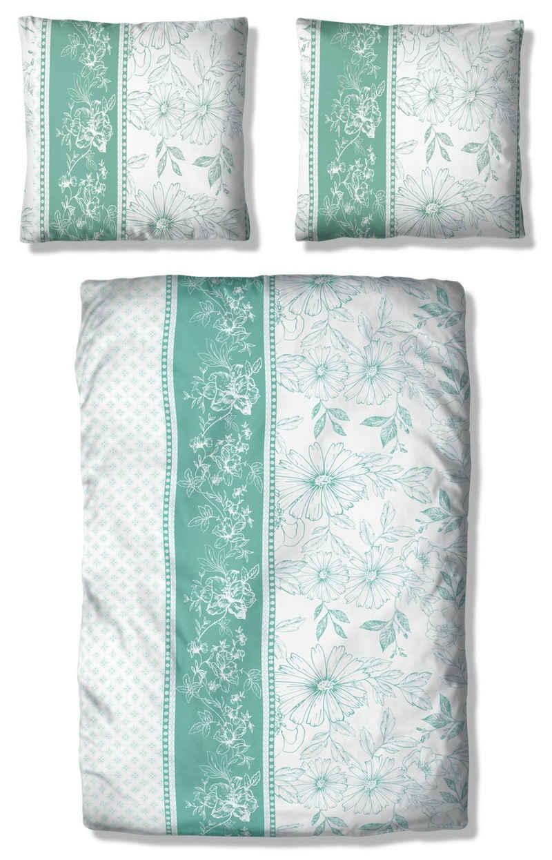 Bettwäsche »Magarit«, Home affaire, mit Blüten und Muster