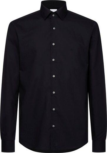 Calvin Klein Businesshemd »2PLY POPLIN STRETCH SLIM SHIRT« unifarben