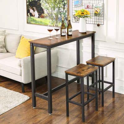 VASAGLE Bartisch »LBT12X«, Küchentisch, rechteckiger Stehtisch, Esstisch, Wohnzimmer, Küche, vintage