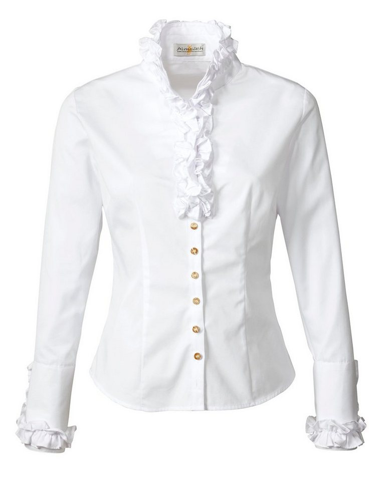 Almsach Langarmbluse in Weiß