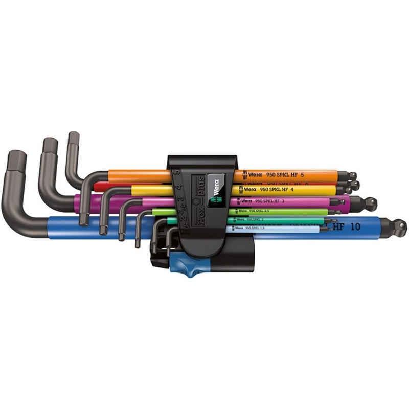 Wera Winkelschlüssel »950 SPKL/9 SM HF Multicolour Winkelschlüsselsatz.«