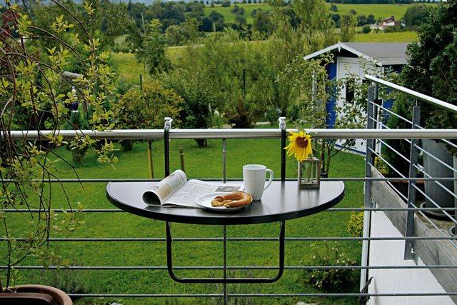 best freizeitmöbel Balkon-Hängetisch Butler halbrund