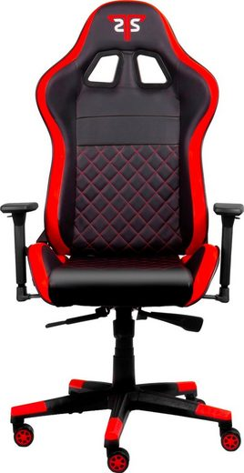 Hyrican Gaming-Stuhl »Striker CODE RED, ergonomisch, höhenverstellbar, Bürostuhl, Officestuhl, Schreibtischstuhl, Drehstuhl, 3D-Armlehnen, Stahlrahmen«