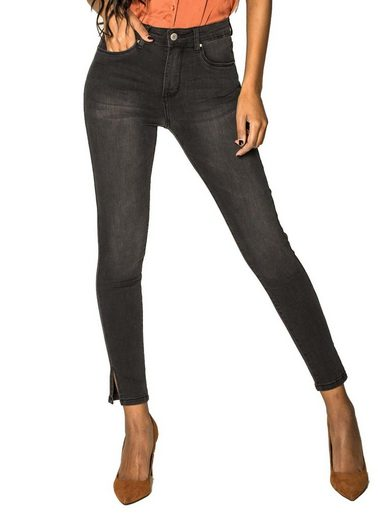Nina Carter High-waist-Jeans »3093« Damen Denim Ankle Jeans